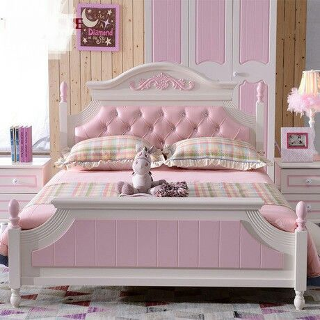 Children Beds solid pine European style hot new pink girls beds ...