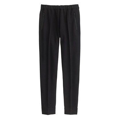 J.Crew Womens Ankle-Zip Pant In Black