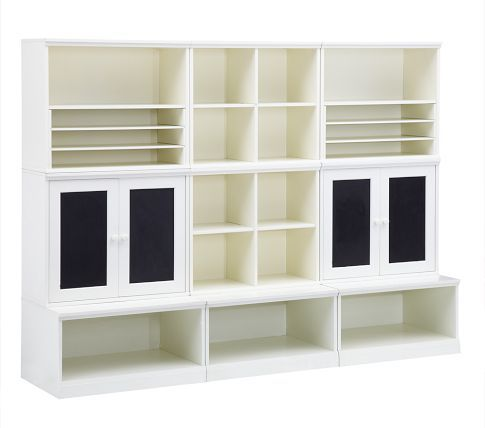Cameron Creativity Storage System With Chalk Cabinets