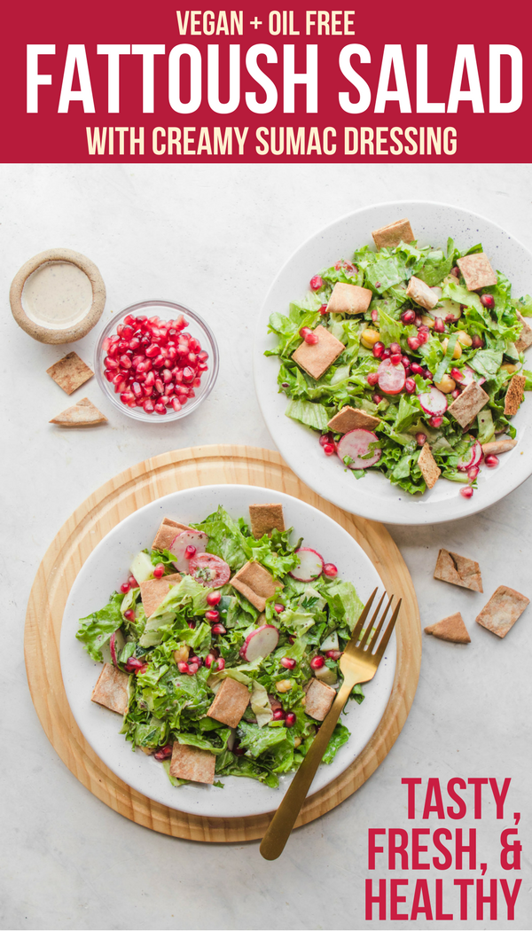 Fattoush Salad With Creamy Sumac Dressing