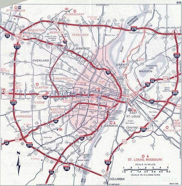 st. louis mo map | 38.646991 -90.224967 10 satellite | map ...