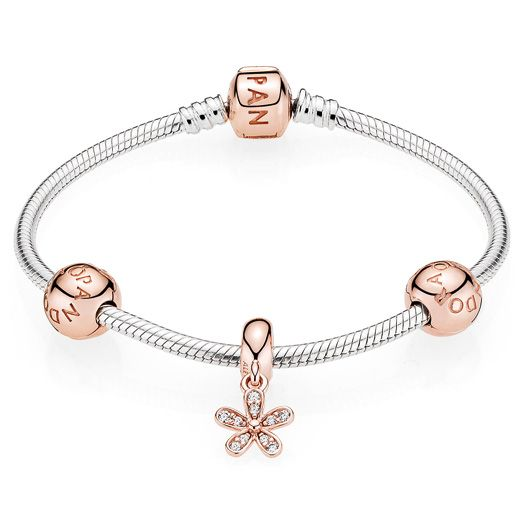 Buy Online Pandora Rose Dazzling Daisy Moments Bracelet Sale Pandora Rose Gold Pandora Rose Daisy Bracelet