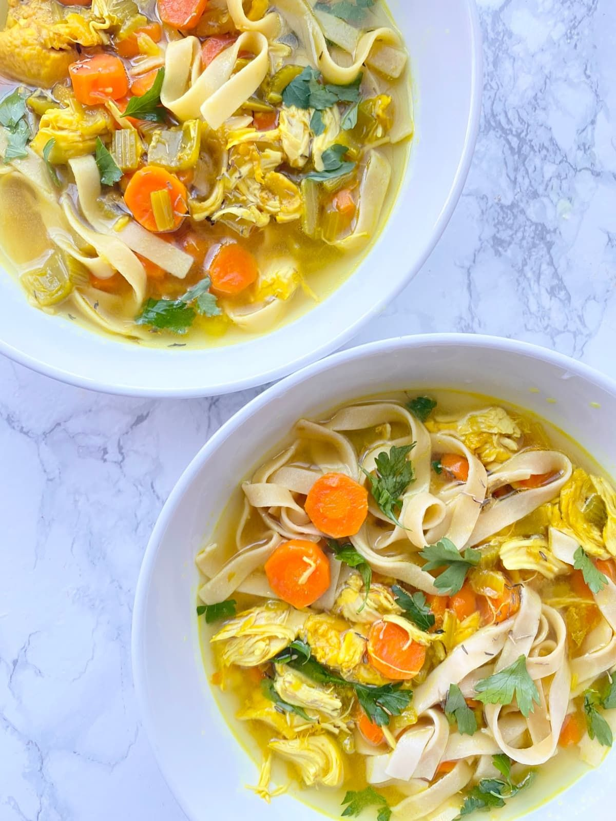 This Instant Pot Chicken Noodle Soup is packed with feel