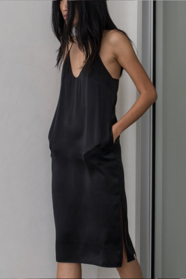 7ab2bd3e5dfe8 Lunya Washable Silk Slip Dress - Black/Bare on in 2019 | Sewing and ...
