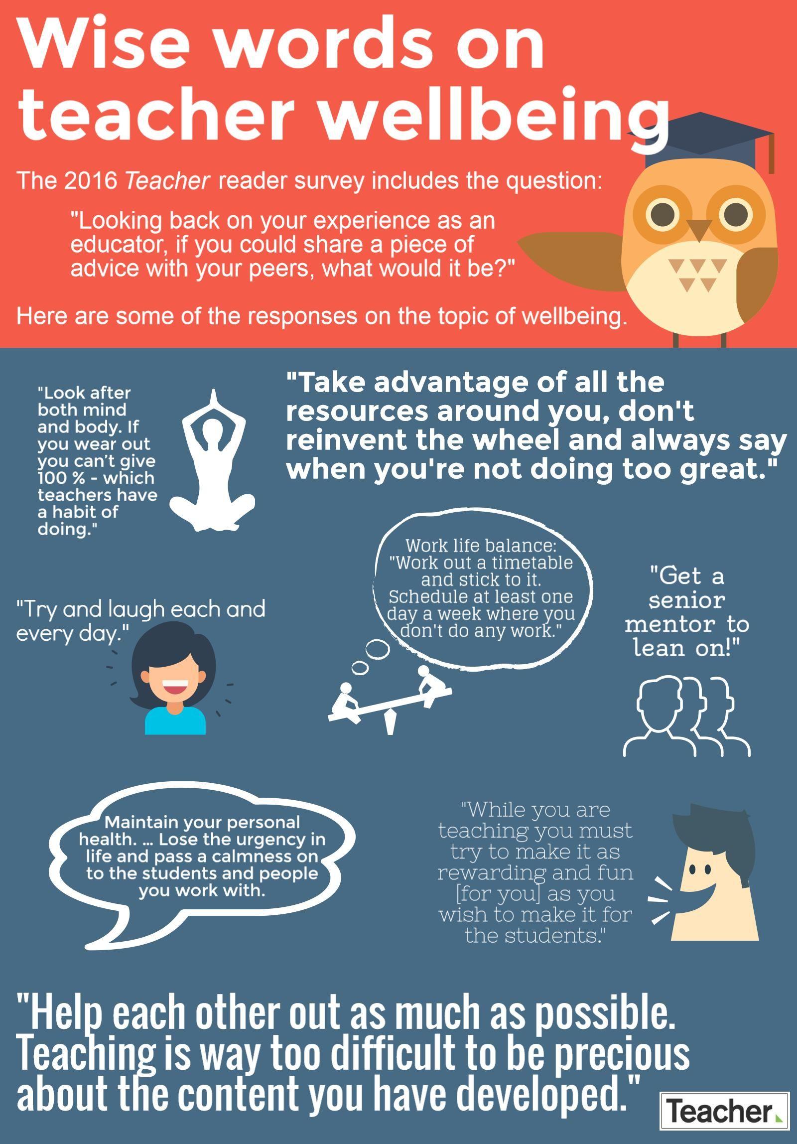 Wise Words On Teacher Wellbeing Teacher Magazine Acer