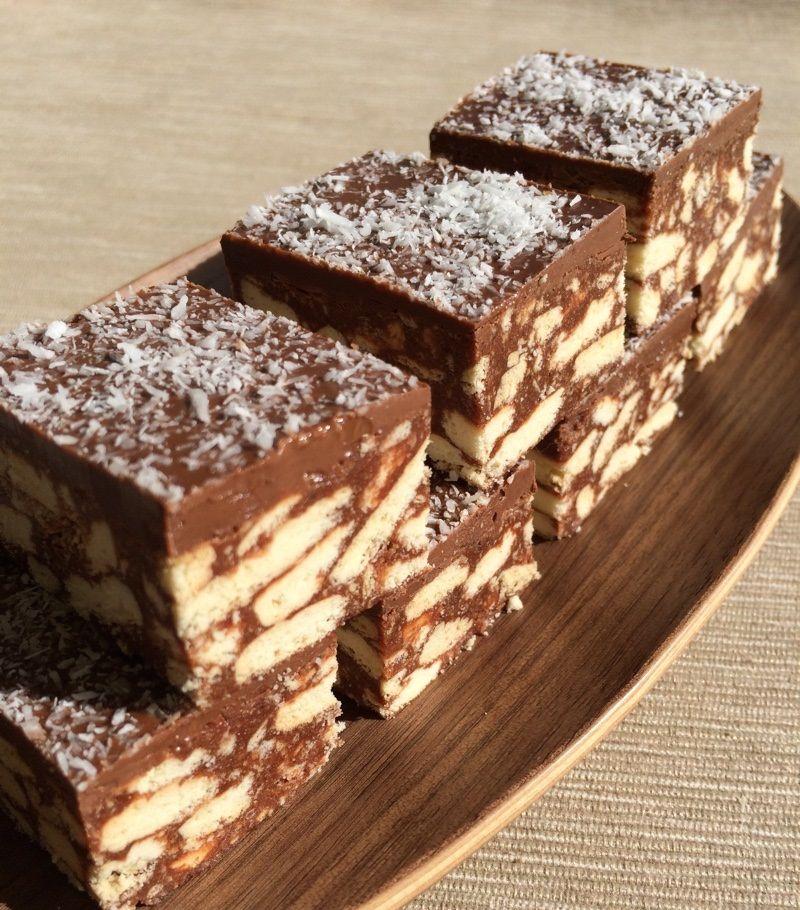 A kedvenc csokoládés kekszkockánk – édes finomság sütés nélkül!