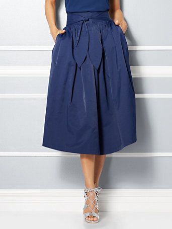 Eva Mendes Collection - Mari Tie-Waist Midi Skirt | Patriotic ...