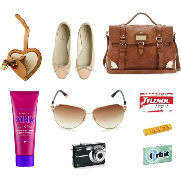 Travel Essentials, created by vaterv on Polyvore