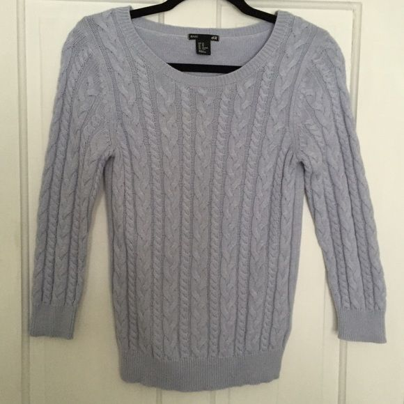 H&M light blue cable knit sweater {•} | D, Cable knit and Cable
