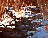 """Winter Thaw"" 16x20"" acrylic/board $395"