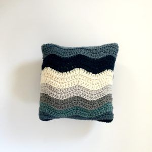 Pillow cover crochet pattern for a wedding gift.
