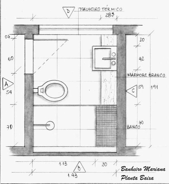 Medidas Banheiro Planta Baixa : Resultado de imagem para banheiros planta baixa