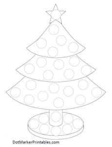 dot marker printable christmas tree - Printable Christmas Trees