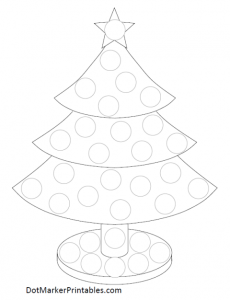 Dot Marker Printable Christmas Tree Dot Marker Printables Preschool Christmas Christmas Kindergarten