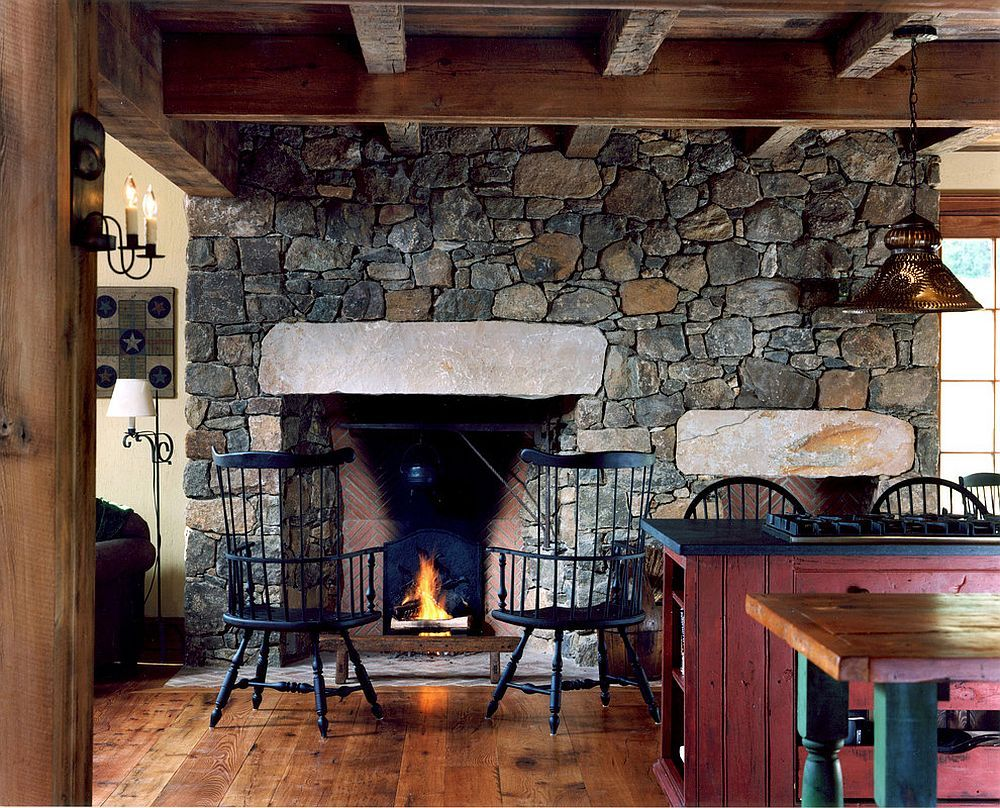 Hot Trends: Give Your Kitchen a Sizzling Makeover with a Fireplace on kitchen island sink ideas, kitchen dinning room ideas, kitchen sitting area ideas,