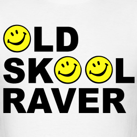 f9cb864d7 Old Skool Raver T-shirt | Rave, DJ & Smiley Face T-shirts & Clothing USA