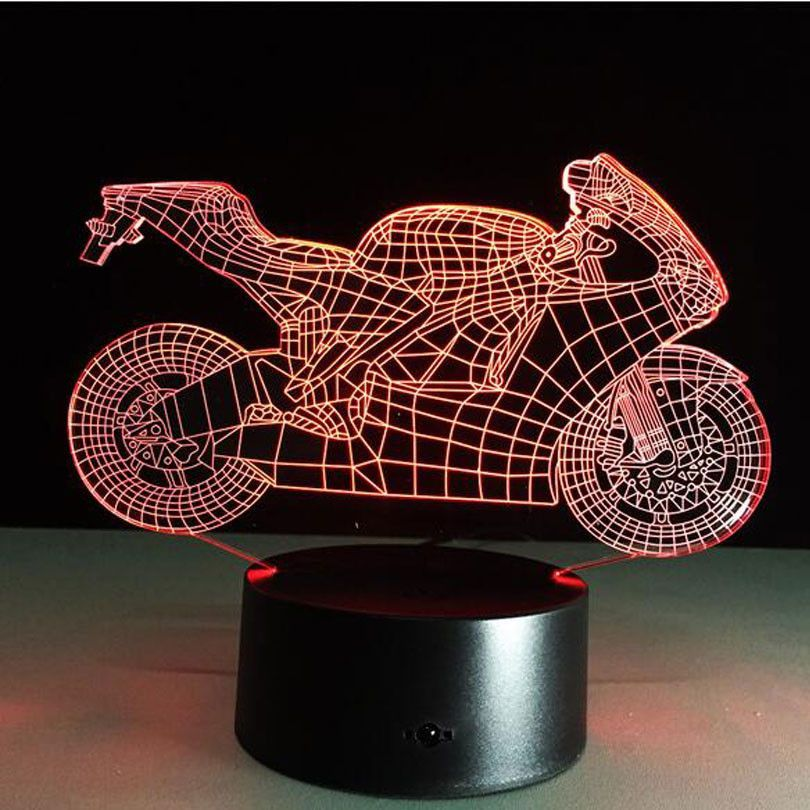 Motorcycle Night Light Sign Motorbike Racing Led 3d Lamp Room Home Decoration Window Display Night Light Lamp Table Lamp 3d Lamp