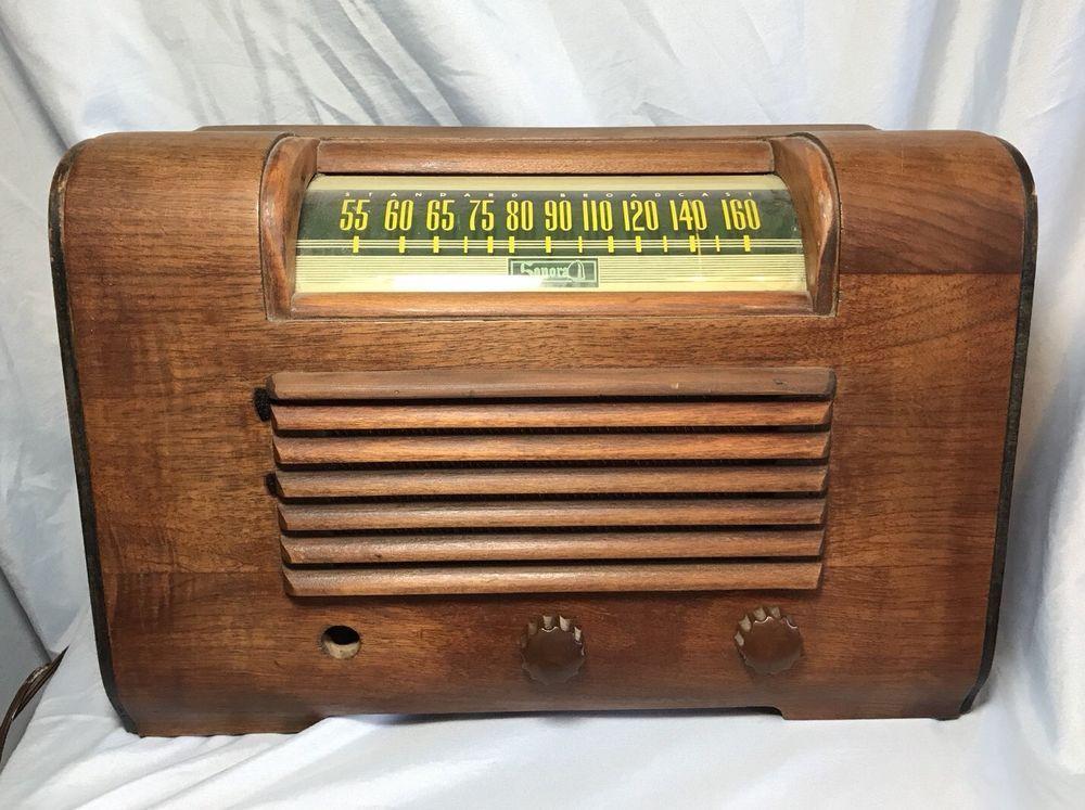 1940's Sonara Model RDU-209 Case Tube Radio Needs Repair