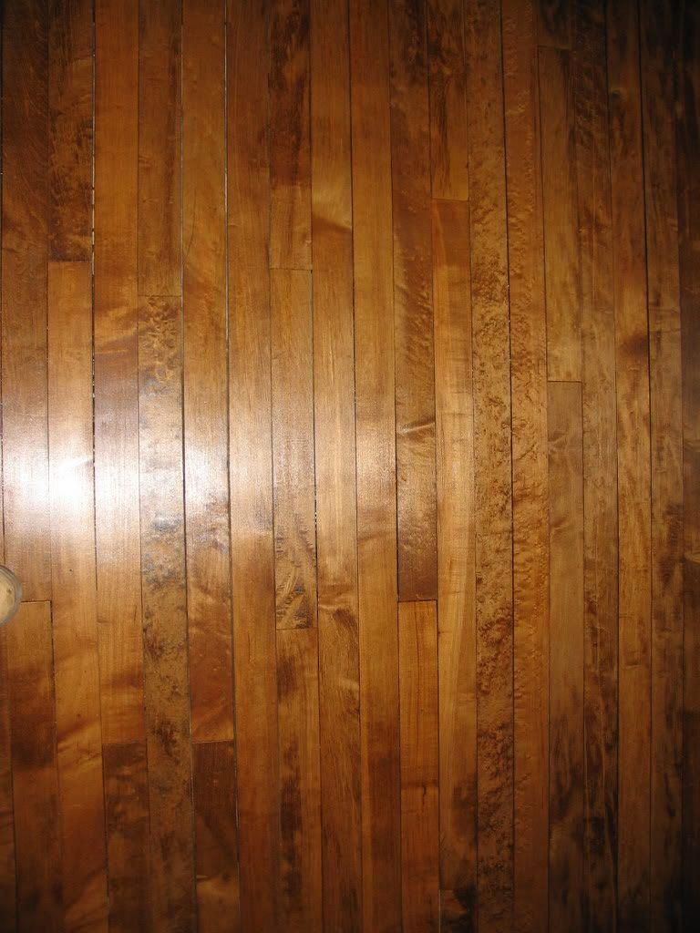 Maple Floor With A Dark Stain Love It Good Discussion About The Difficulties Of Staining Maple And H Maple Floors Maple Wood Flooring Hardwood Floor Colors