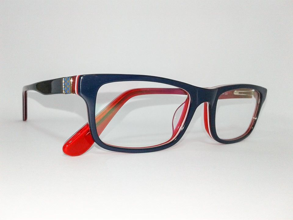 Óculos Pequeno Armação Acetato Feminino Tamanho 50 Azul