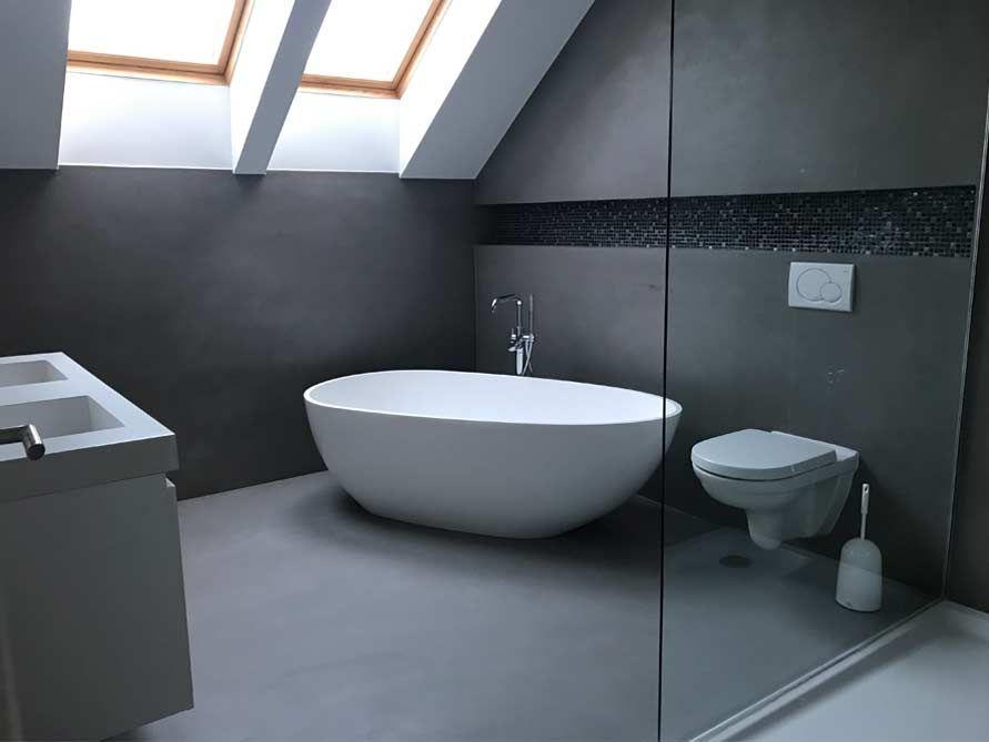 Freistehende Badewanne Luino aus Mineralguss - Weiß matt oder