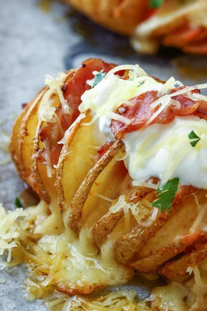 Patatas Rellenas al Horno Hasselback – Receta Fácil