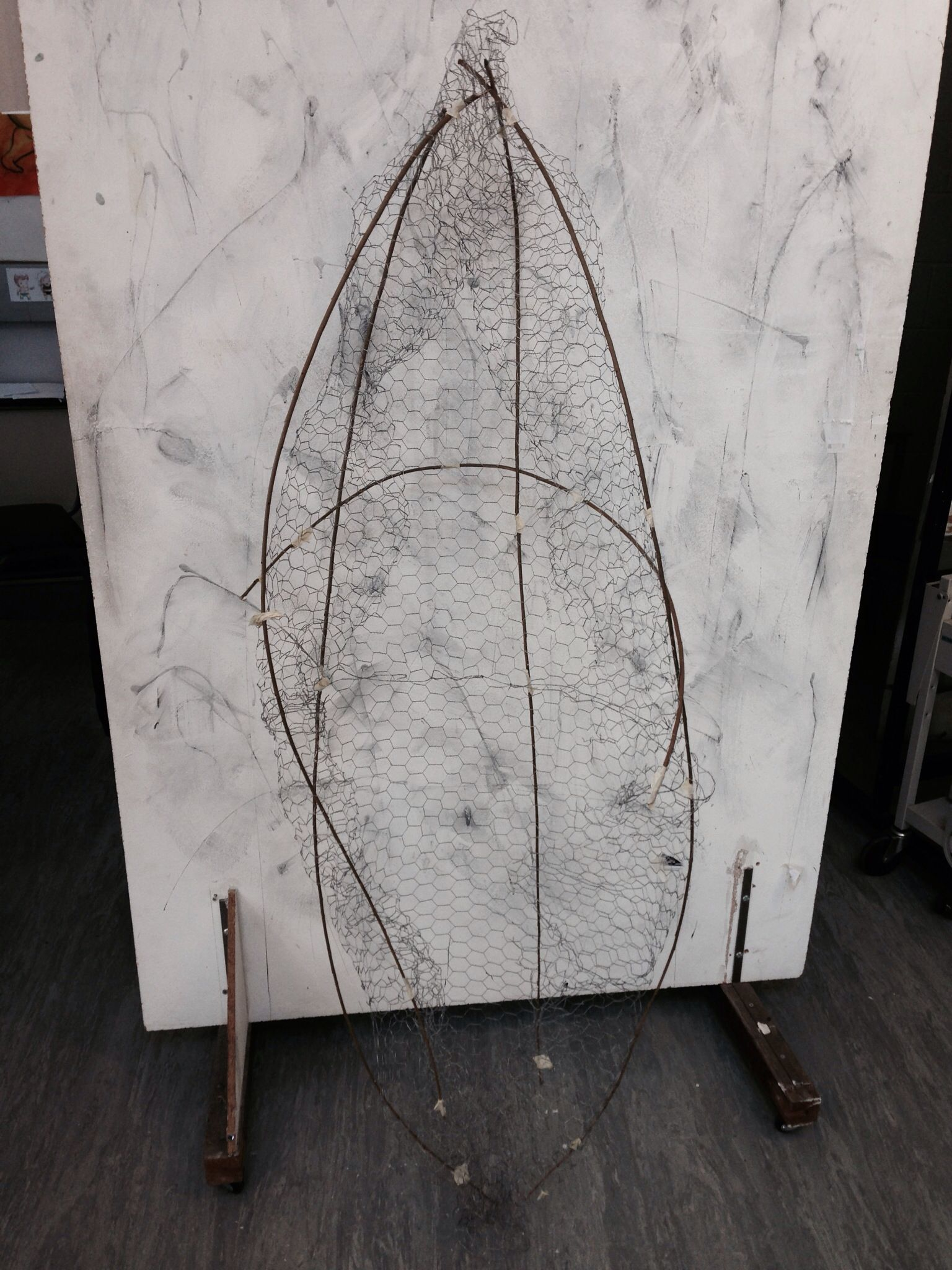 Frame Of My Cocoon Made From Chicken Wire And Bamboo Sticks To Be