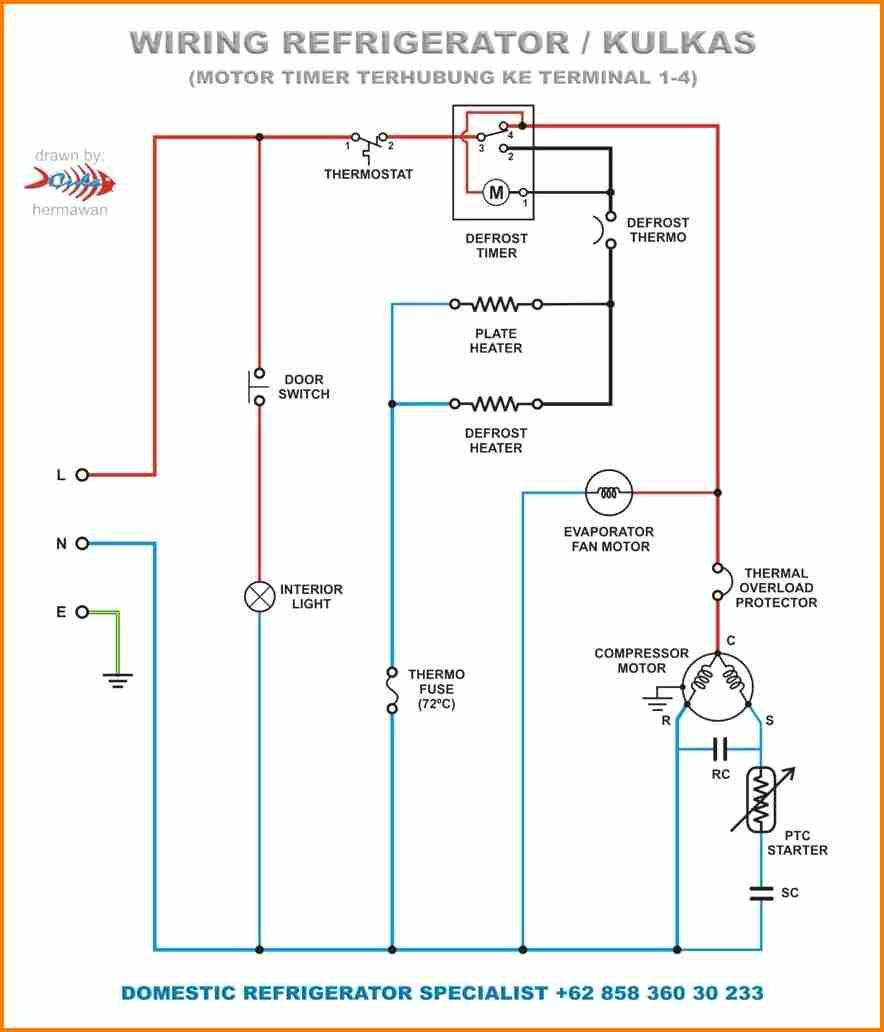 Freezer Defrost Timer Wiring Diagram #2 | Circuit diagram, Electrical  diagram, Electrical wiring diagram | Hvac Defrost Wiring Connection Diagram |  | Pinterest