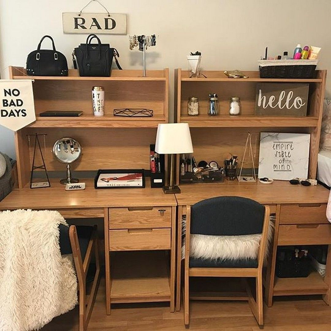 27 Cheap Ways To Make Your College Apartment Look More Grown Up Dorm Desk Decor College Apartment Decor College Living Rooms