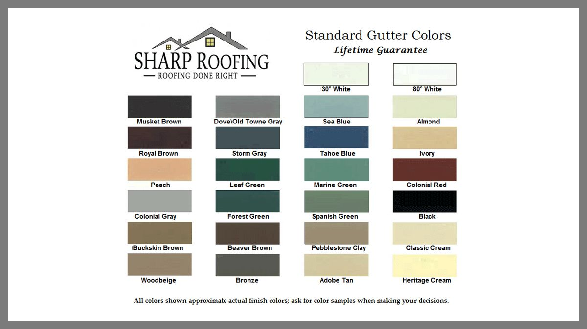 We Offer Gutters In A Wide Range Of Colors If You Are Looking To Replace Your Gutters This Summer Which Color Would Y Roofing Gutter Colors Roofing Companies