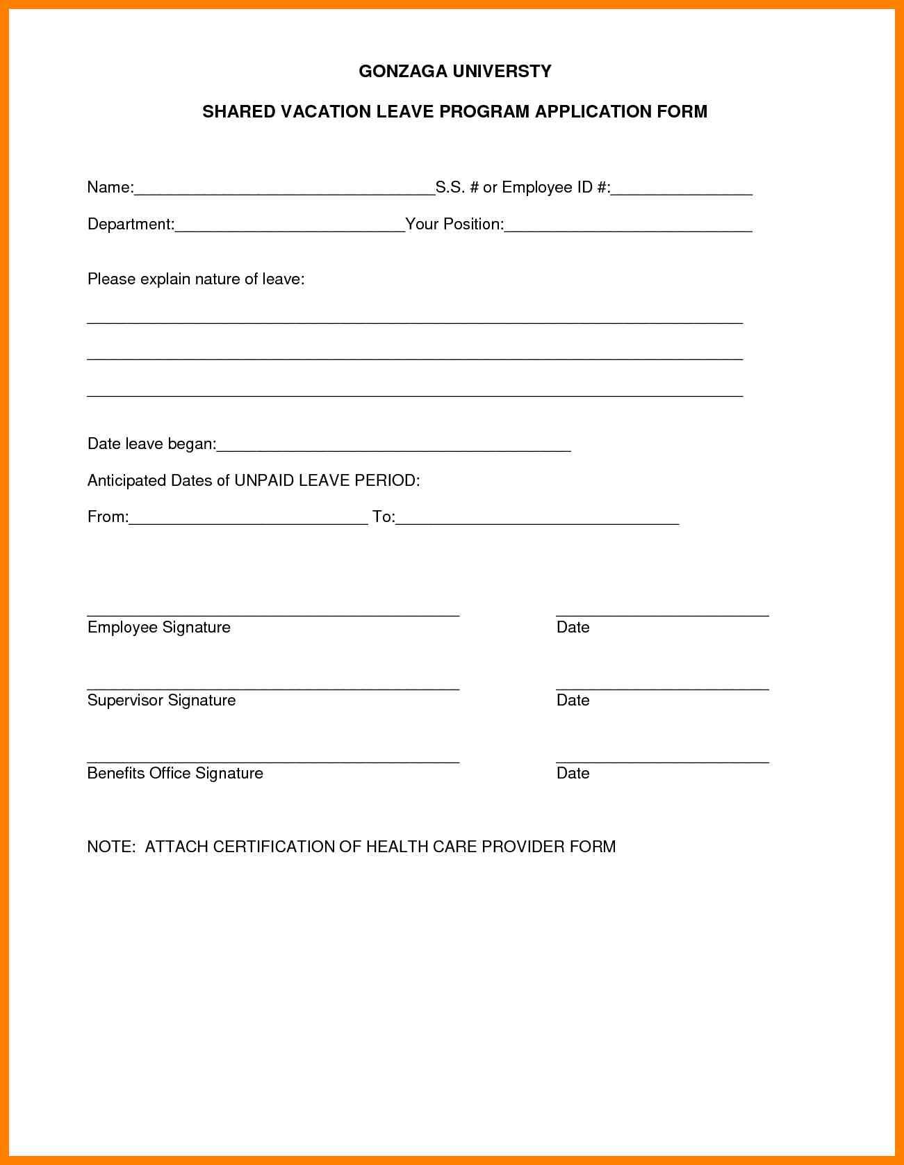 Image Result For Vacation Leave Form Templates Action Plan Template 90 Day Plan