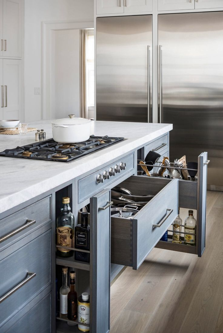 Tips For Kitchen Island Organization Ideas Kitchen Island Storage Kitchen Island Countertop Kitchen Island With Stove