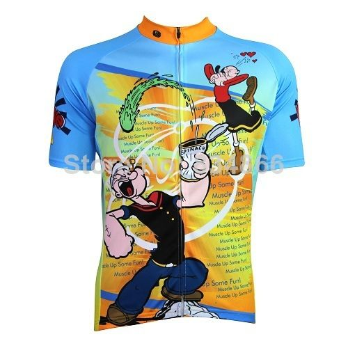 35bd44dc0 So fun  D 2014 men women cartoon cycling jersey Gumby cycling shirt Green .