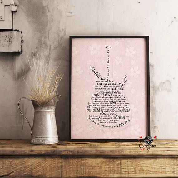 Tom Petty Wildflowers Lyrics Printable You Belong Among The Song