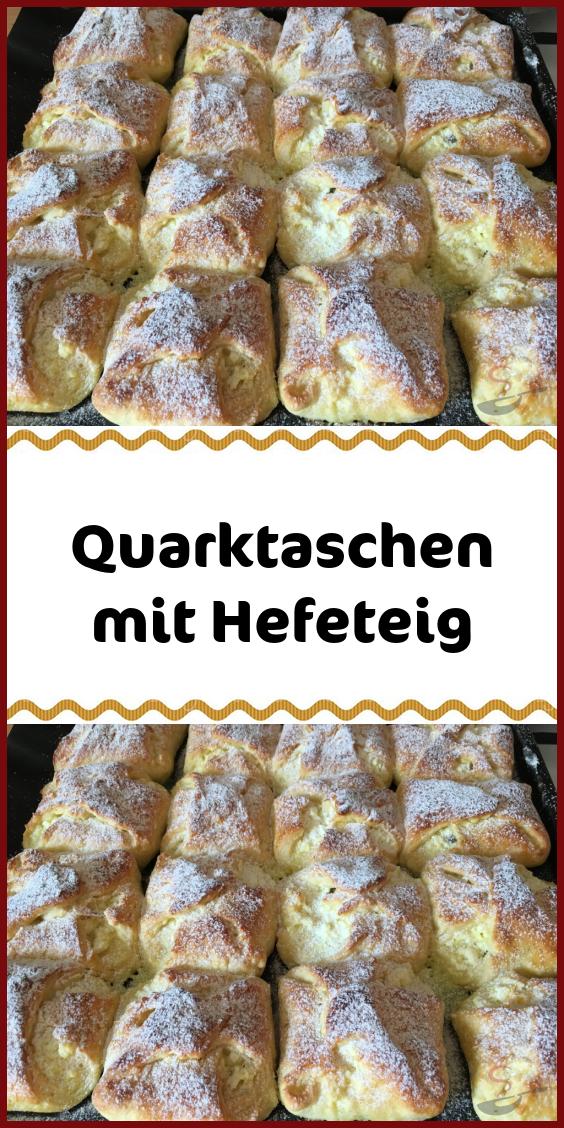 Quarktaschen mit Hefeteig #leckerekuchen