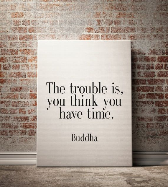 PRINTABLE Art The Trouble Is You Think You Have by BlueBookDesign