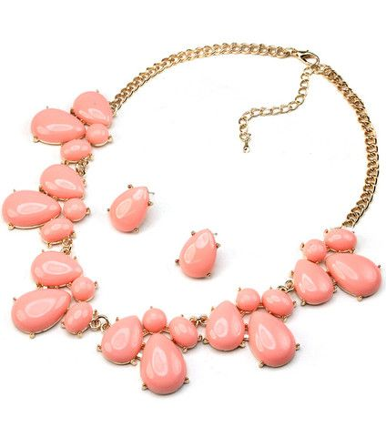 Adorn By LuLu  Teardrop Opal Pink Necklace U2013 Shop LuLu