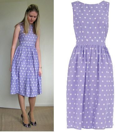 Dorothy Perkins Lilac Spot Polka Dot Midi Dress 6/8/10/12/14/16