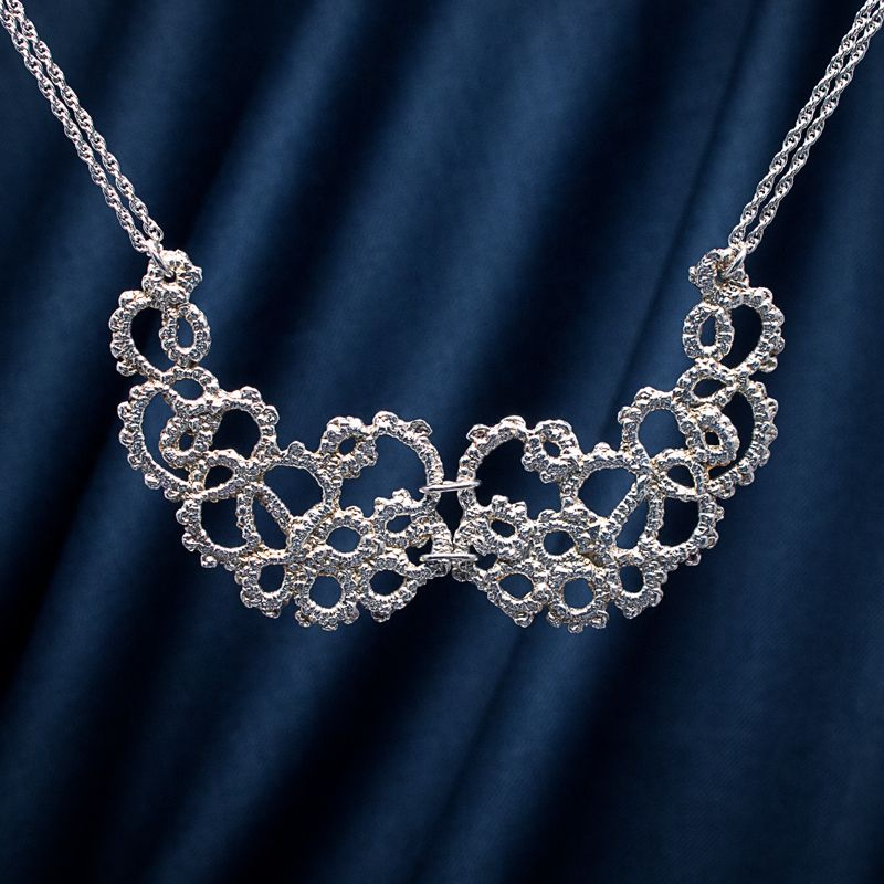 Ascension silver lace necklace 13th anniversary