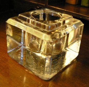 Vintage Office Large Clear Glass Inkwell Desk Ink Jar Pot Etsy Vintage Office Inkwell Antique Shops