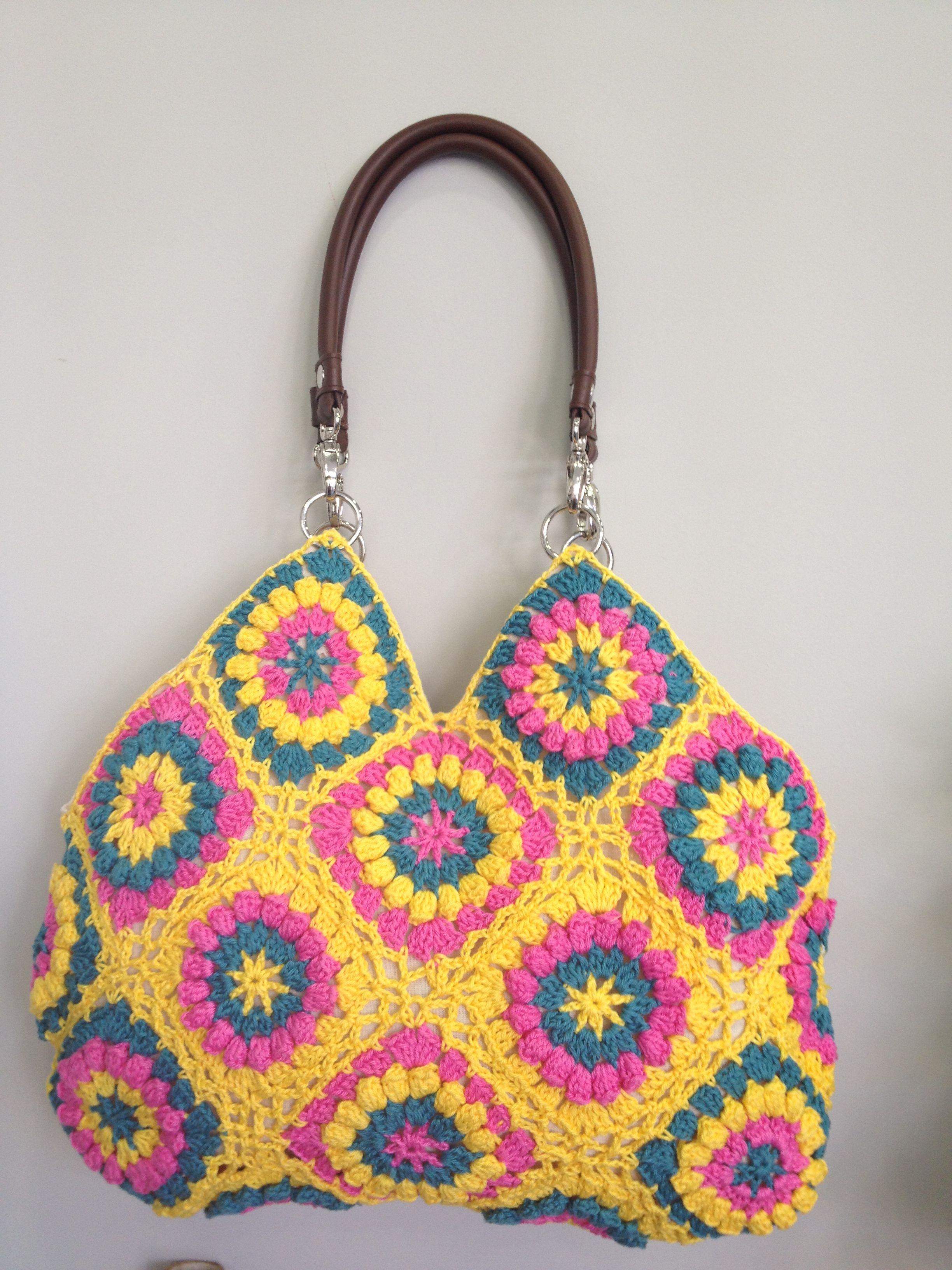 Summer Cotton Bag with Granny Squares ♛ Anastasia Gr