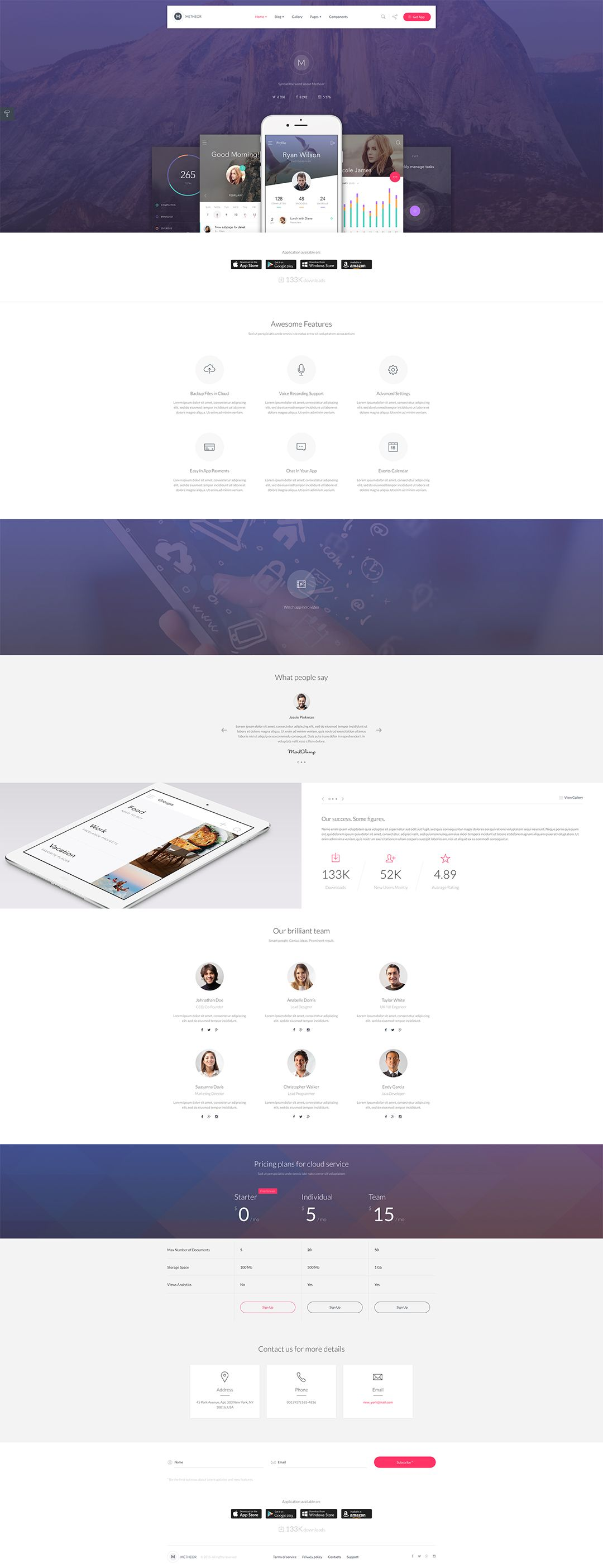 Clean and well designed Bootstrap template to showcase your App ...