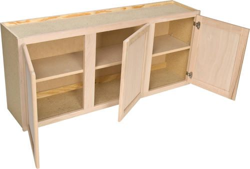 Quality One 54 X 24 Unfinished Oak Laundry Wall Cabinet At