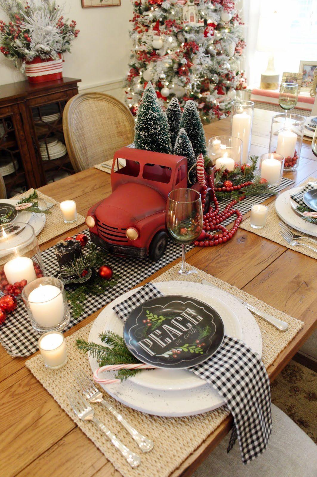 Christmas Table Decoration Ideas Christmas Decorations For The Home Diy Christmas Table Christmas Table Decorations Diy