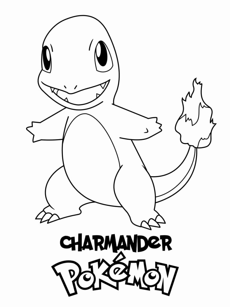 Pokemon Kids Coloring Pages Charmander In 2020 Pokemon Coloring Pages Pokemon Coloring Pikachu Coloring Page