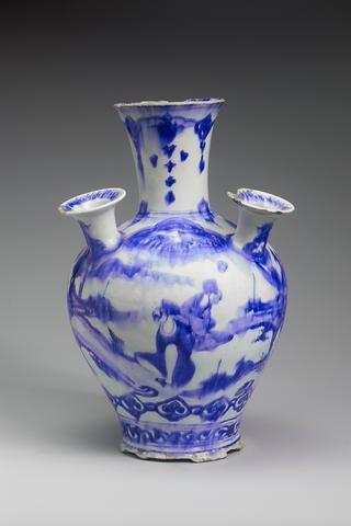 A Safavid blue and white multi-neck Vase Persia, 17th Century