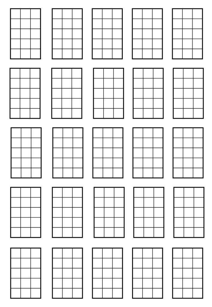 blank ukulele tab sheet