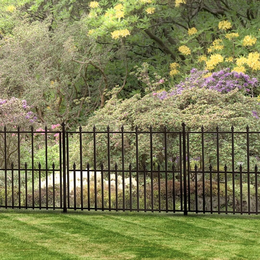 Ironcraftfences Posted To Instagram The No Dig Empire Fence Comes In Three Sizes With The Smallest Size Being Featu In 2020 Garden Fence Fence Landscaping Rail Fence