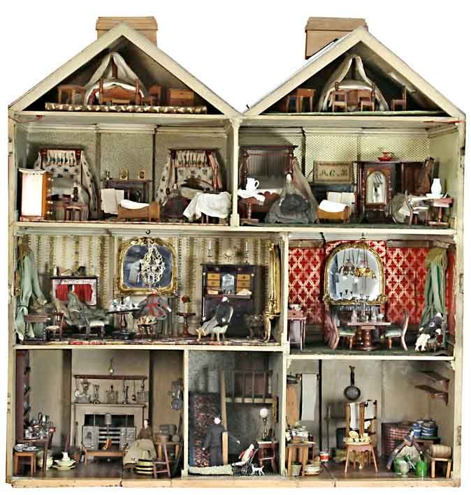 Interior of the Victorian dolls\' house sold at Chorley\'s for £42,450 ...