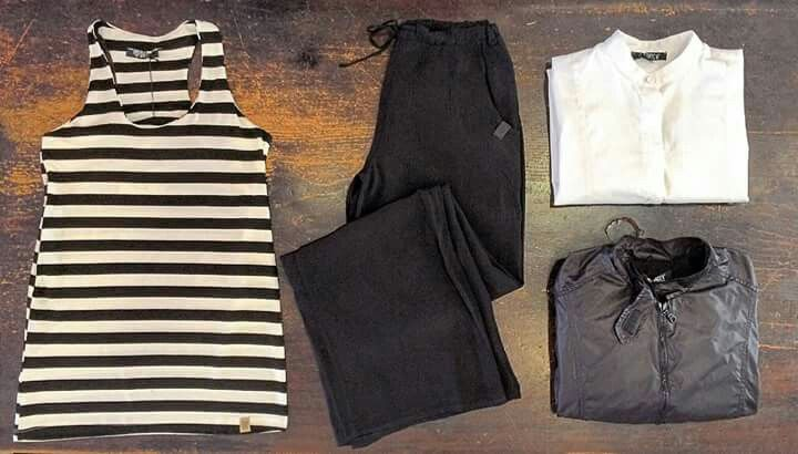 Datch women's black and white outfit//Too fashion